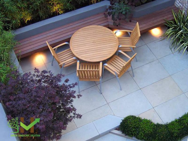 Thiết kế thi công sân vườn trên mái 2