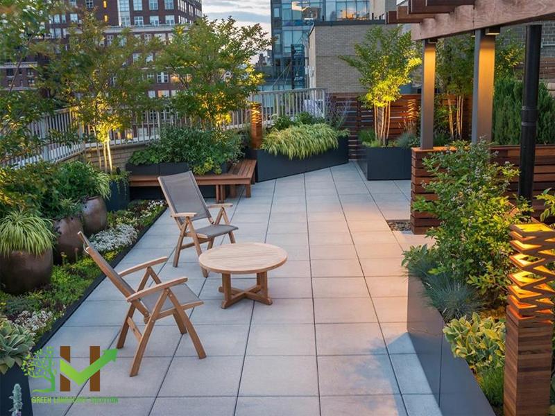 Thiết kế thi công sân vườn trên mái 3